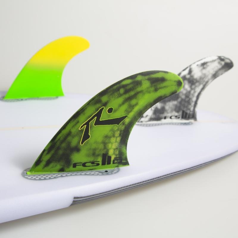 FCS II Rusty RP PC Thruster Surfboard Fin Set Medium