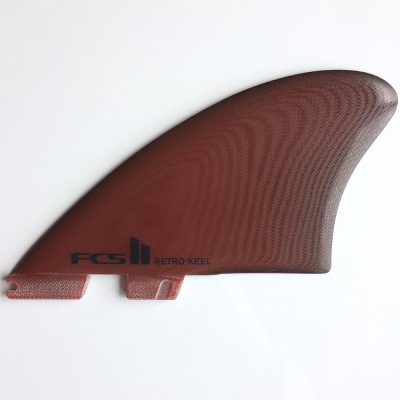 FCS II Retro Keel PG Twin Surfboard Fin Set
