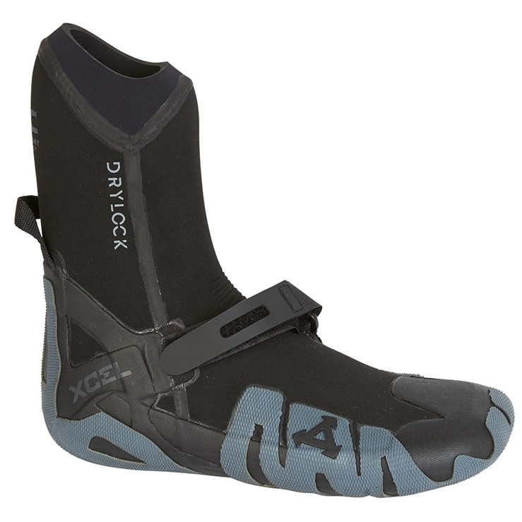 Xcel 5mm Celliant Black Drylock Round Toe Wetsuit Boots