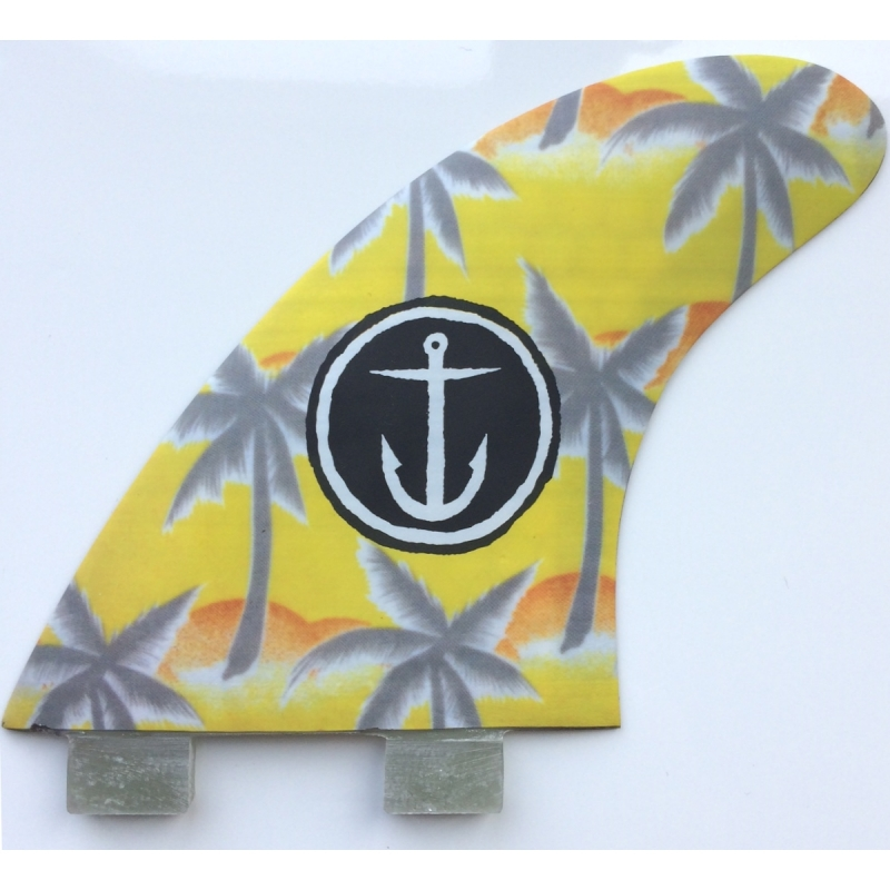 Captain Fin Palm Tree Large Surfboard Fin Set FCS Base