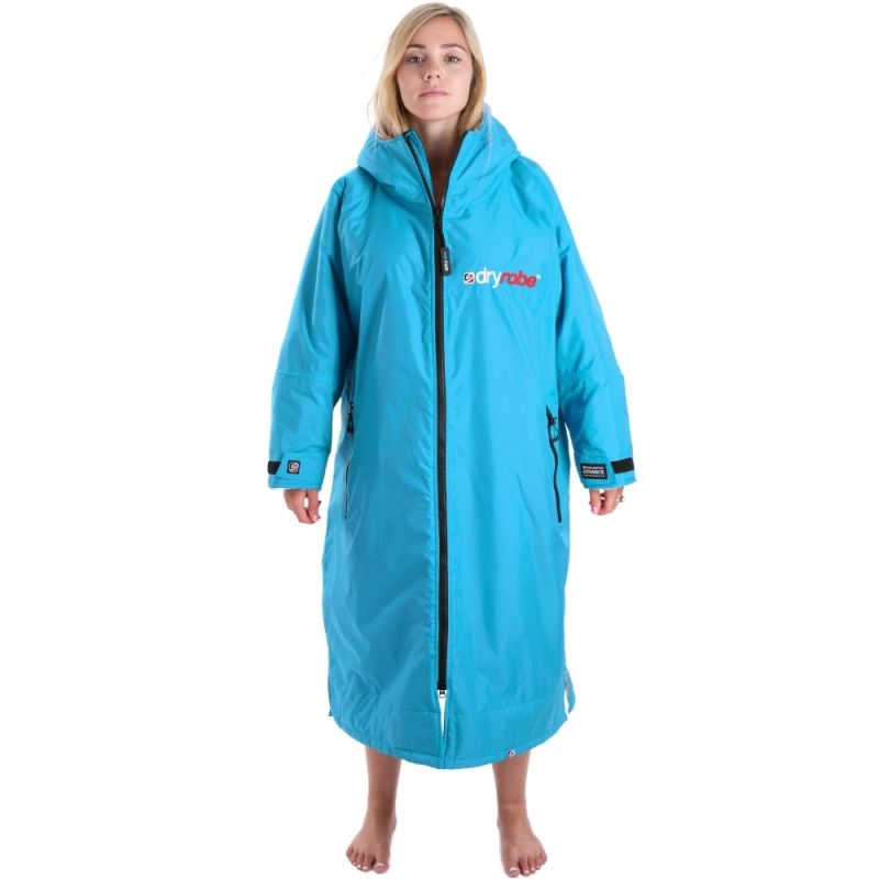 Dryrobe Advance Womens Sky Blue Long Sleeve Beach Changing Robe