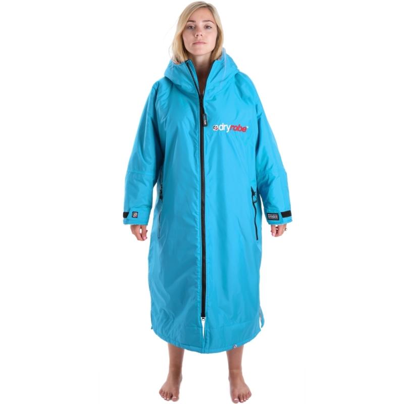 Dryrobe Advance Womens Sky Blue Long Sleeve Beach Changing Robe