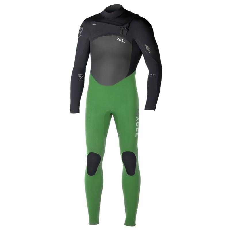 Xcel Revolt TDC 4/3mm Wetsuit Green Black