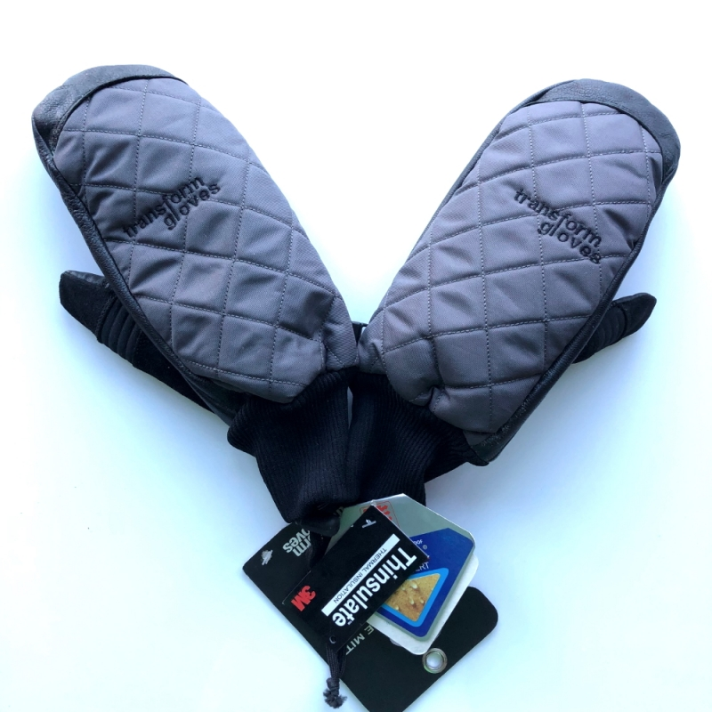 Transform The Heritage Snowboard Mitts Charcoal Black