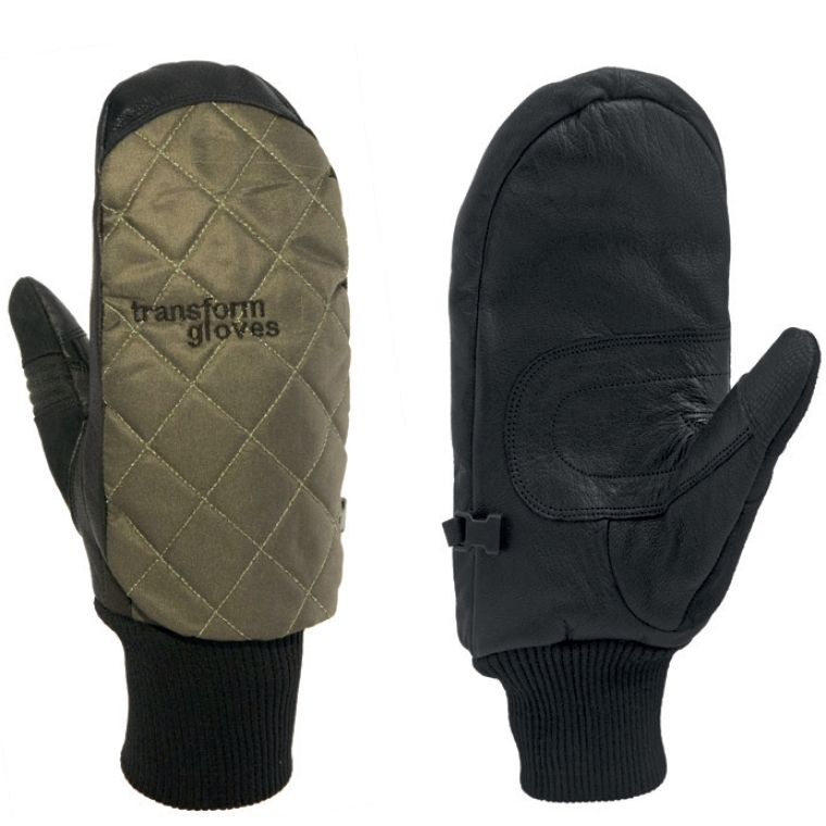 Transform The Heritage Snowboard Mitts Olive Green
