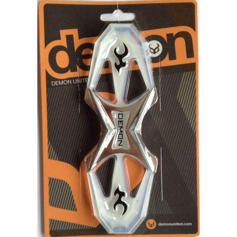 Demon Quattro Snowboard Stomp Pad Silver and Clear