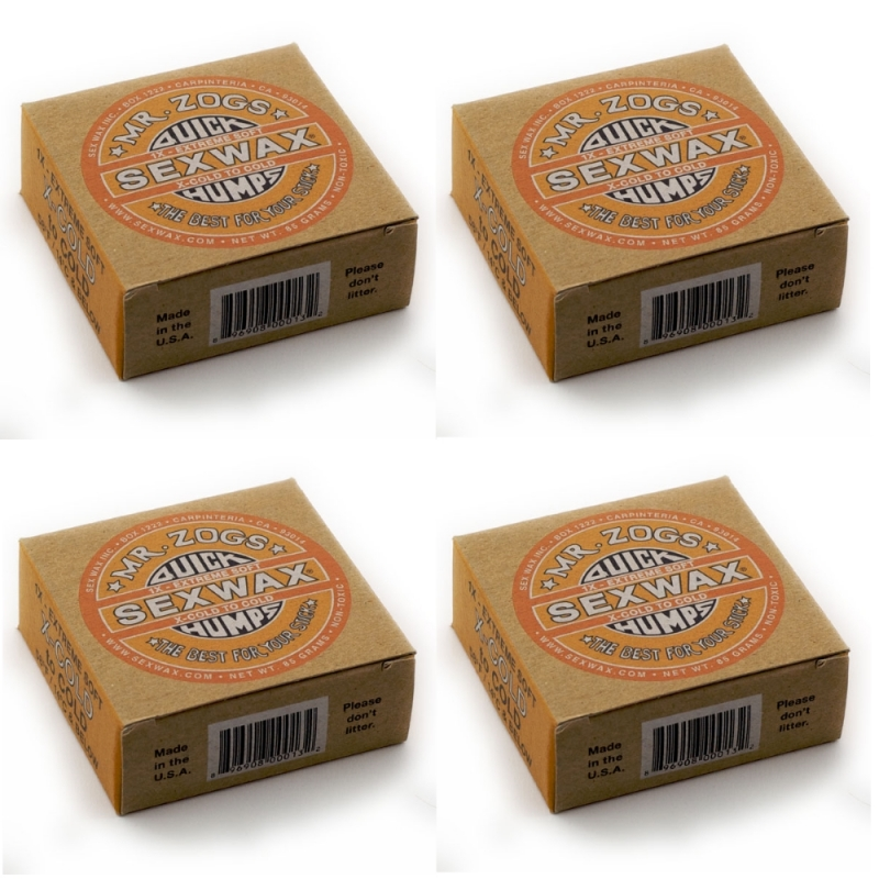 SexWax Quick Humps Extra Cold Water Surf Wax - 4 Block Pack