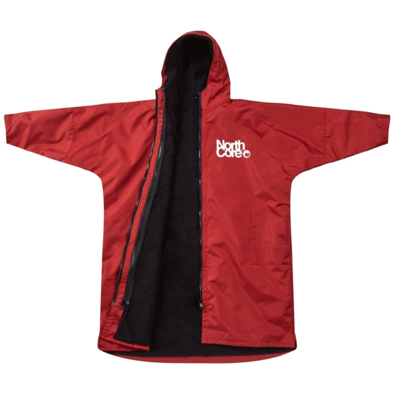 Northcore Beach Basha Pro 4 Season Changing Robe Red