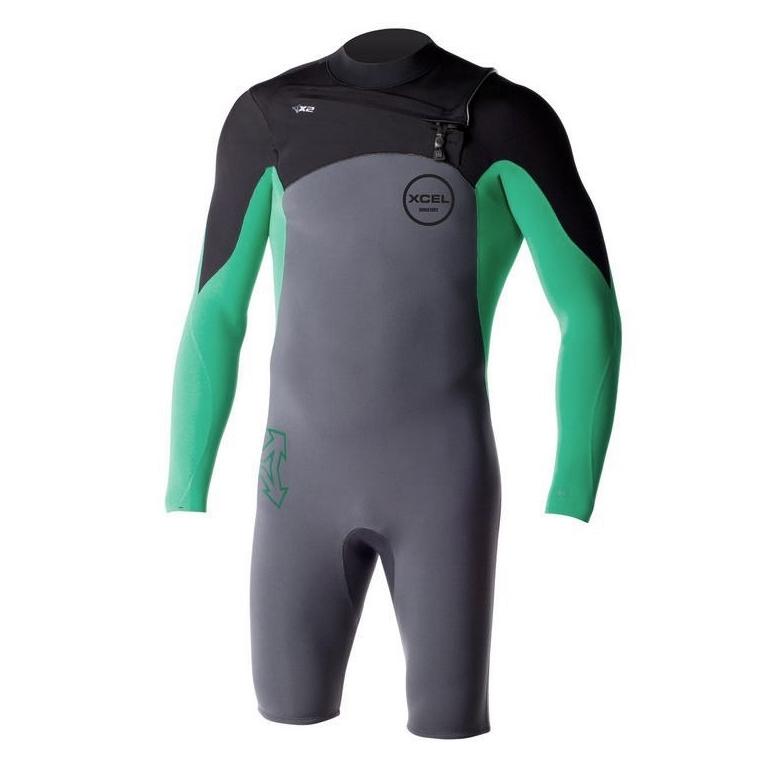 Xcel 2mm Infiniti Comp Long Sleeved Springsuit Wetsuit Green