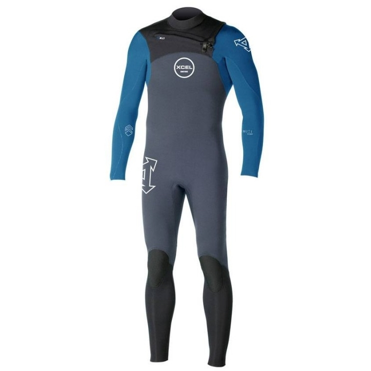 Xcel 3/2mm Infiniti Comp QD Wetsuit Chest Zip Graphite Denim