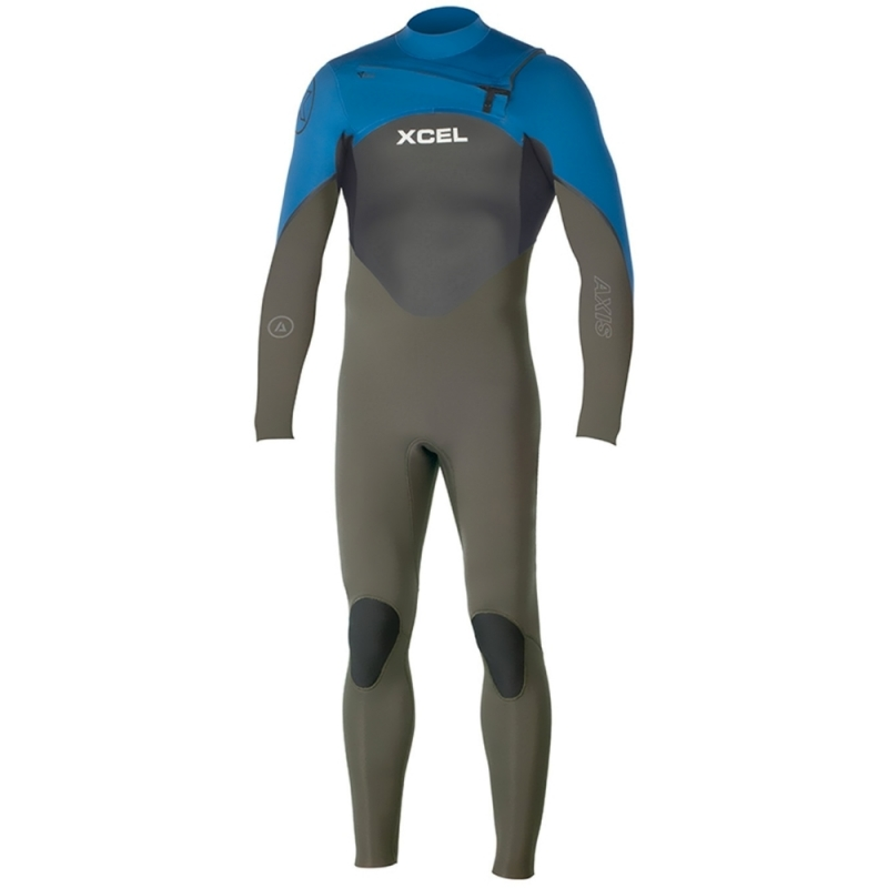 Xcel 3/2mm Axis Wetsuit X2 Chest Zip Graphite Denim