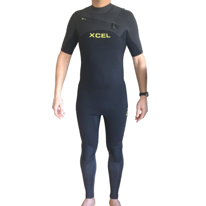 Xcel 2mm Infiniti Comp SS Wetsuit Chest Zip Graphite