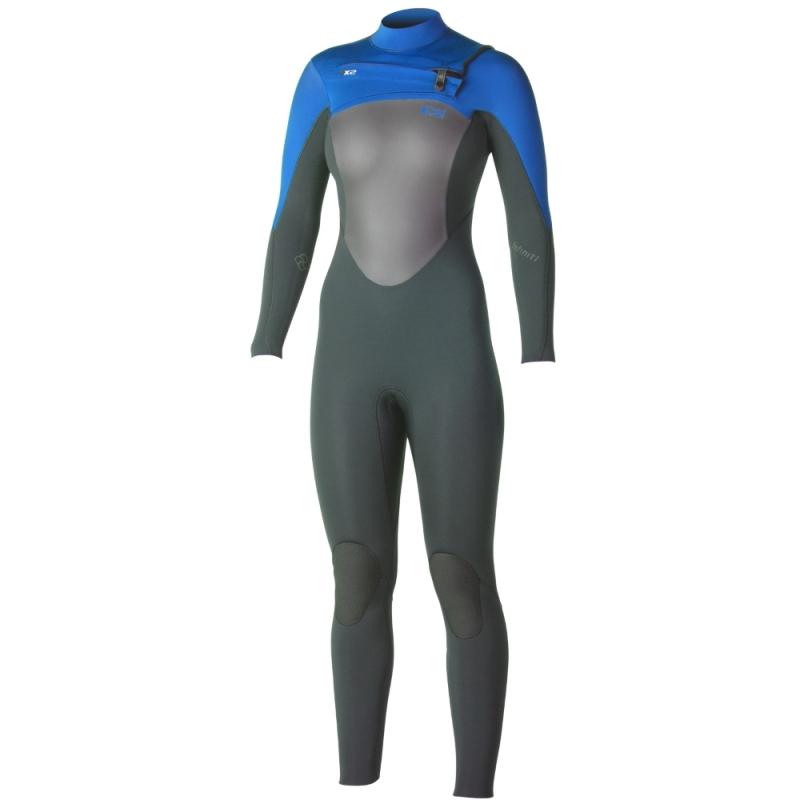 Xcel 3/2mm Womens Infiniti TDC Wetsuit Chest Zip Graphite Blue
