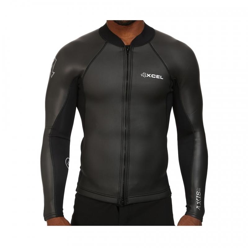 Xcel 2/1mm Axis Smoothskin Wetsuit Jacket Front Zip