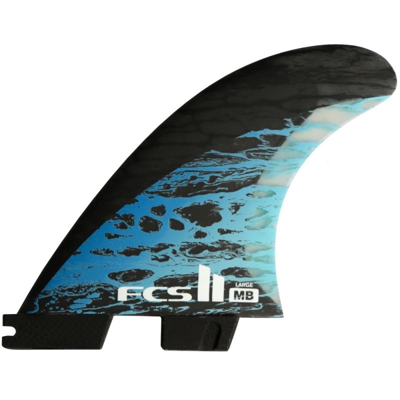 FCS II MB PC Carbon TriQuad Surfboard Fins Large