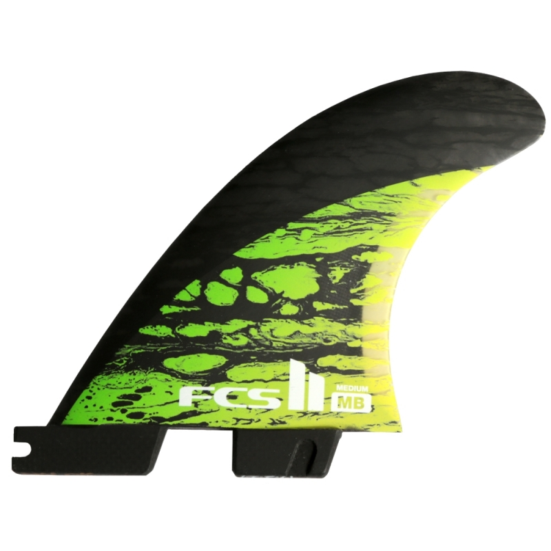 FCS II MB PC Carbon TriQuad Surfboard Fins Medium