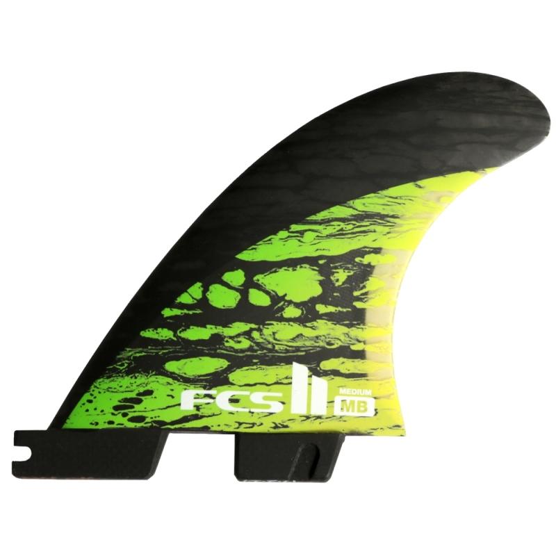 FCS II MB PC Carbon Thruster Surfboard Fins Medium