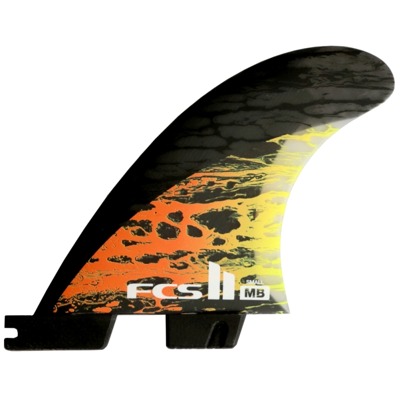 FCS II MB PC Carbon Thruster Surfboard Fins Small