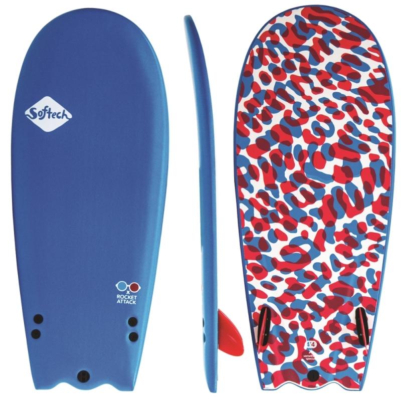 Softech Rocket Attack 4ft8 Soft Surfboard 3D