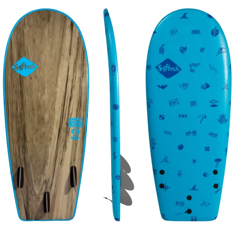 Softech Rocket Launch 4ft6 Soft Surfboard Blue