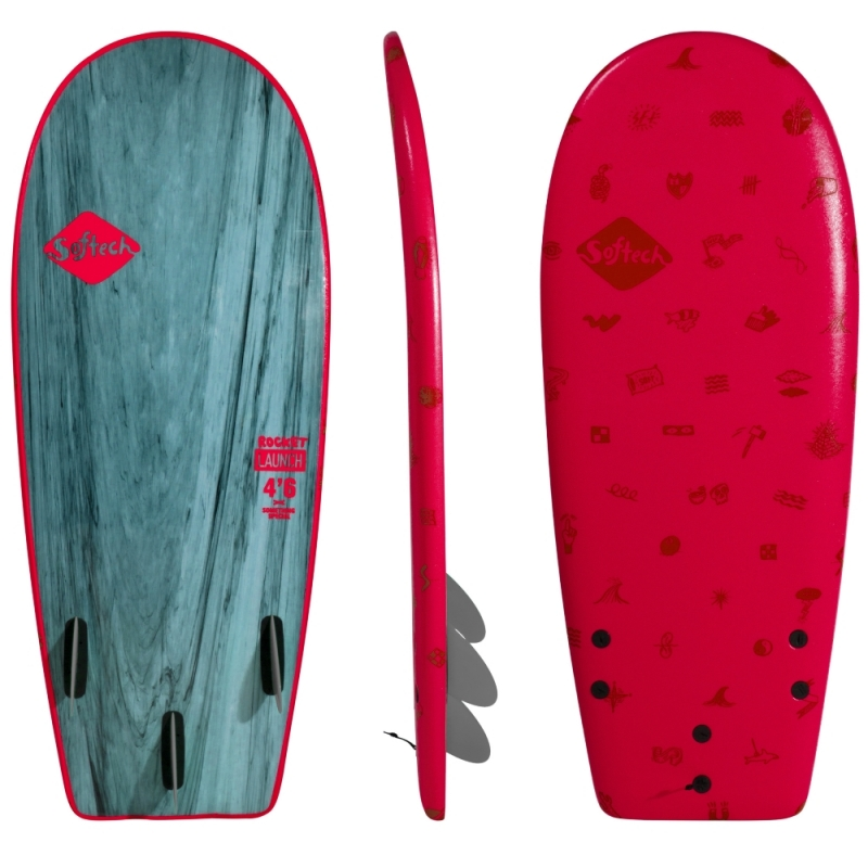 Softech Rocket Launch 4ft2 Soft Surfboard Red