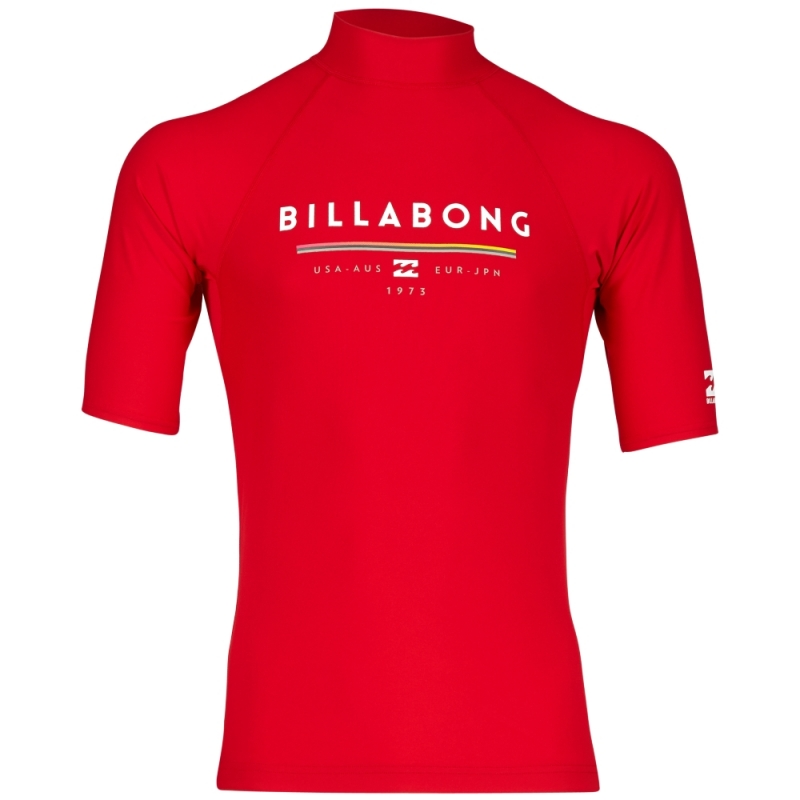 Billabong Rash Vest Unity Short Sleeve Red