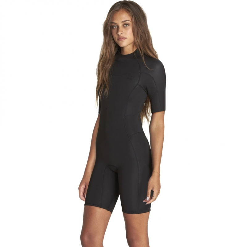 Billabong 2mm Womens Synergy Shorty Wetsuit Black