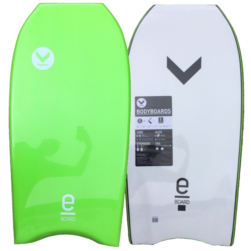 Hydro E Board Bodyboard 40 Inch Lime White