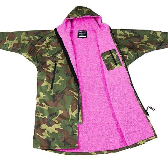 Dryrobe Advance Womens Camo Pink Long Sleeve