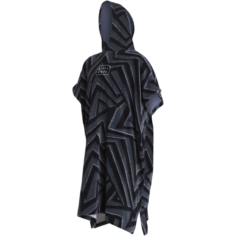 Billabong Hoodie Towelling Robe Charcoal