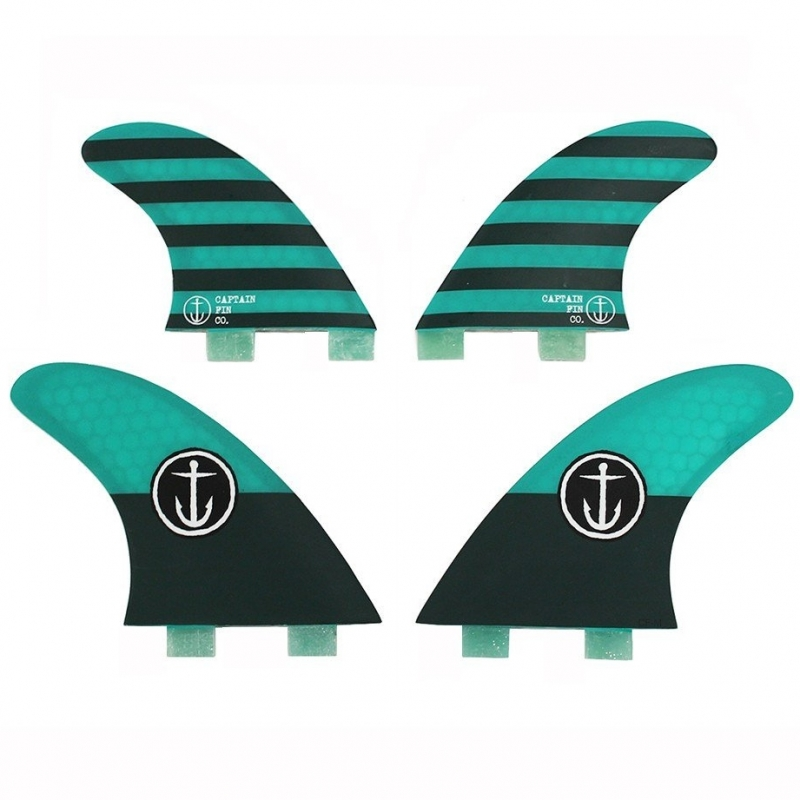 Captain Fin CF Quad Surfboard Fin Set FCS Medium