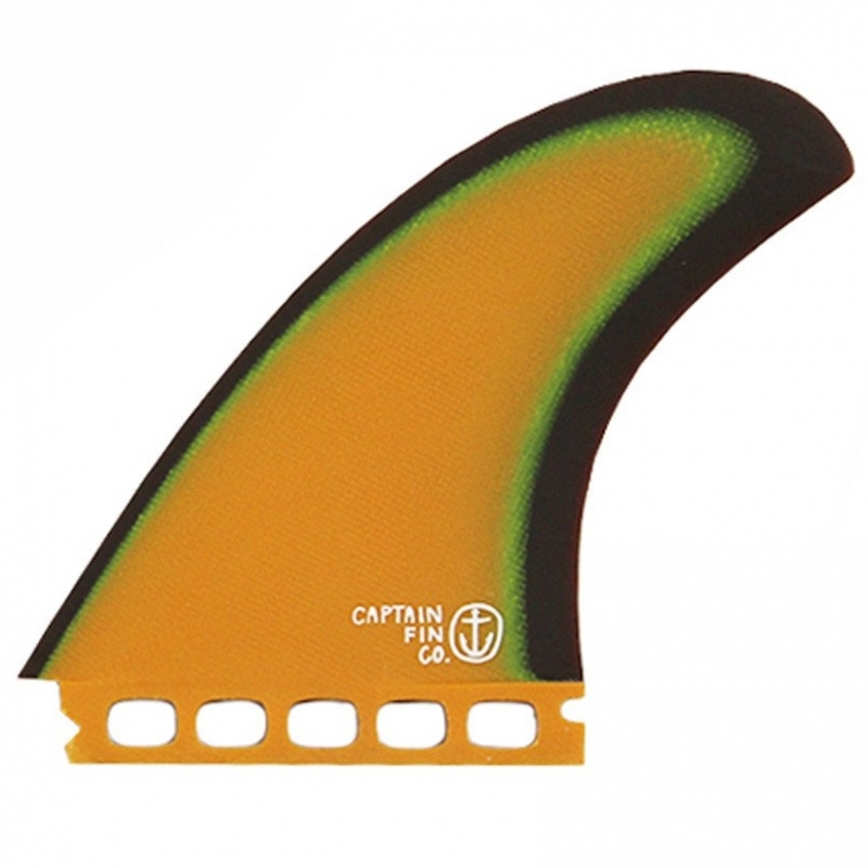 Captain Fin Twin Plus Surfboard Fin Set ES Futures Orange