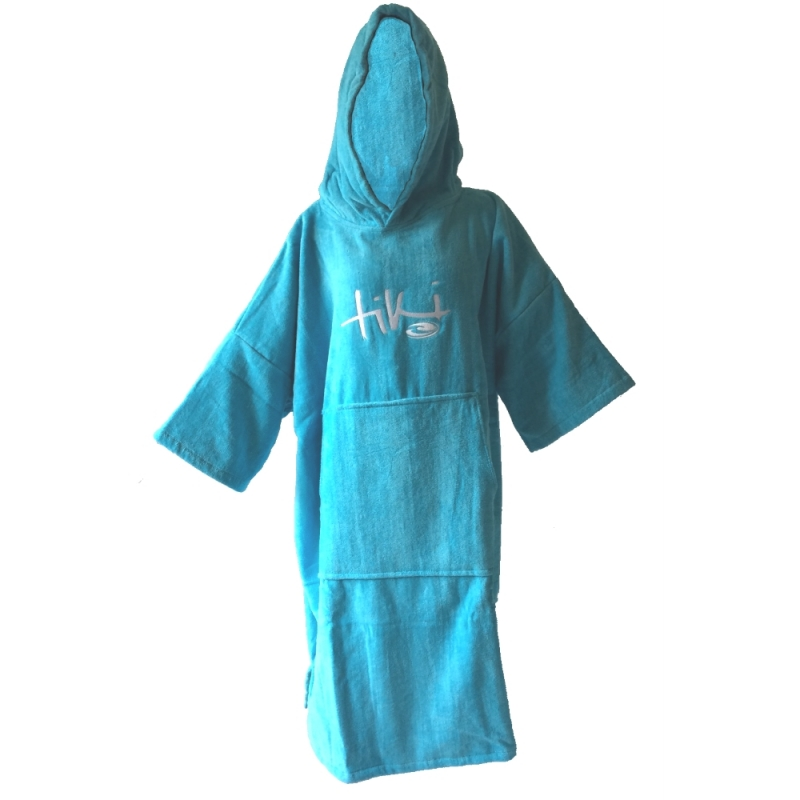 Tiki Velour Deluxe Womens Beach Changing Robe Sky Blue