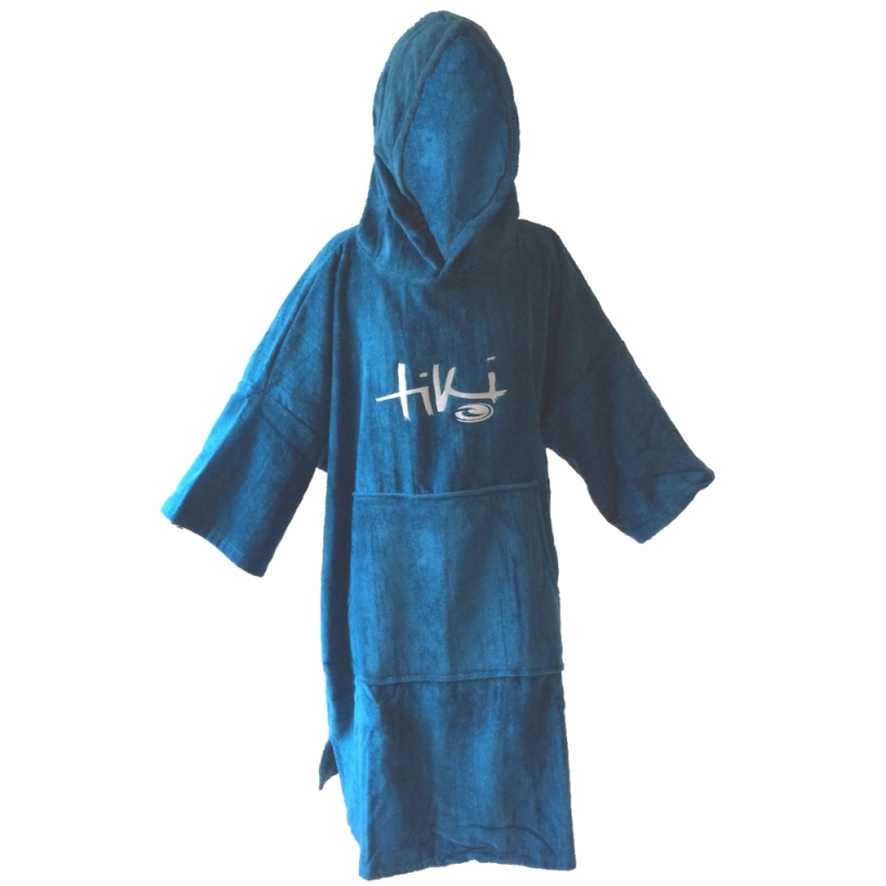 Tiki Velour Deluxe Beach Changing Robe Blue