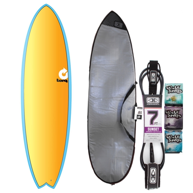Torq 7ft2 Fish Surfboard Package Full Fade