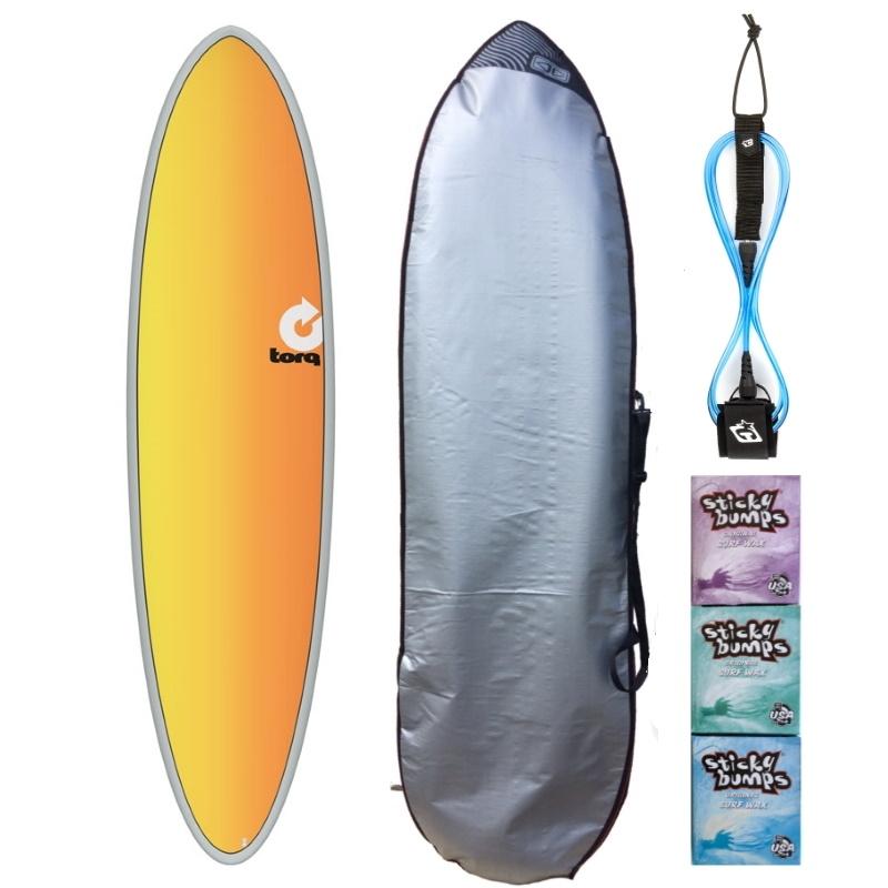 Torq 7ft2 Mini Mal Surfboard Package Full Fade