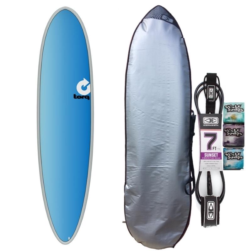 Torq 7ft6 Mini Mal Surfboard Package Full Fade