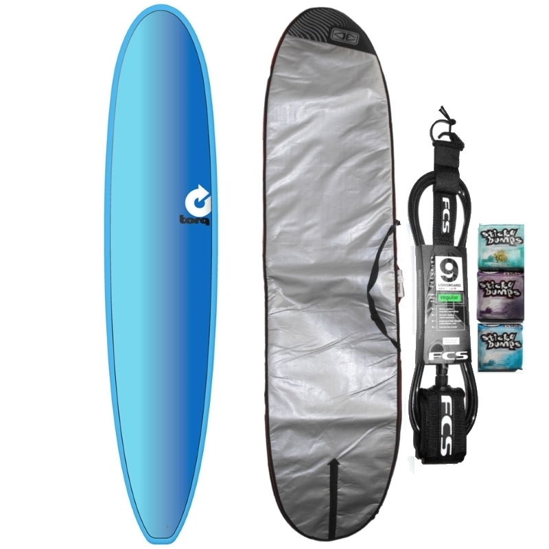 Torq 9ft Longboard Surfboard Package Full Fade
