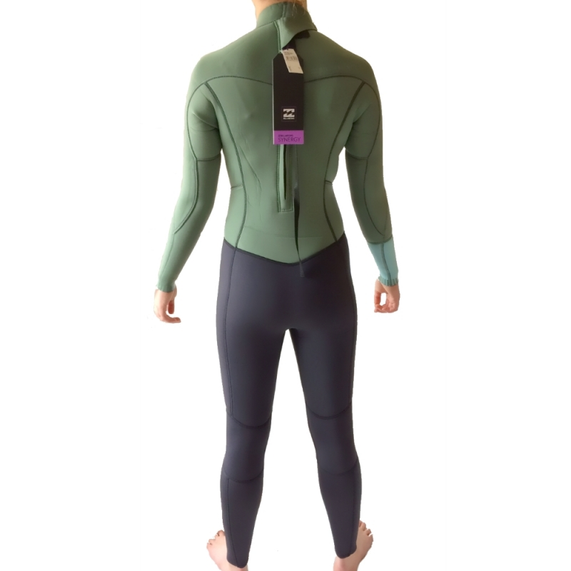 Billabong 3 2 Ladies Synergy Wetsuit Moss Back Zip 40315da6e