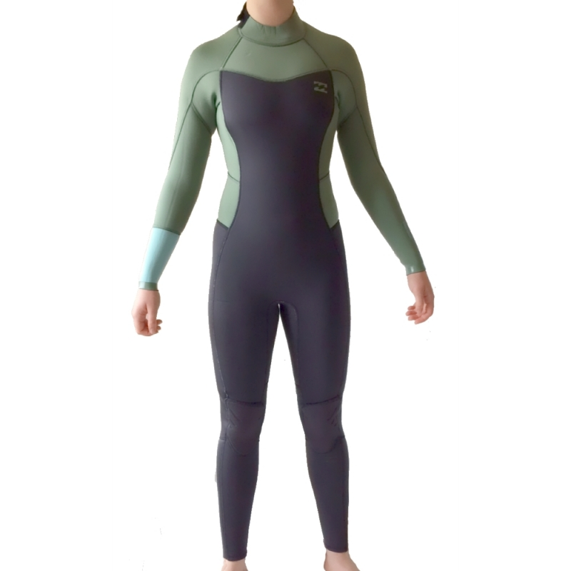 Billabong 3/2 Ladies Synergy Wetsuit Moss Back Zip