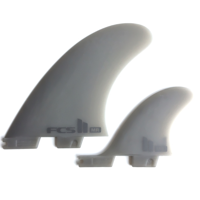 FCS II MR Twin Plus Surfboard Fins Neo Glass