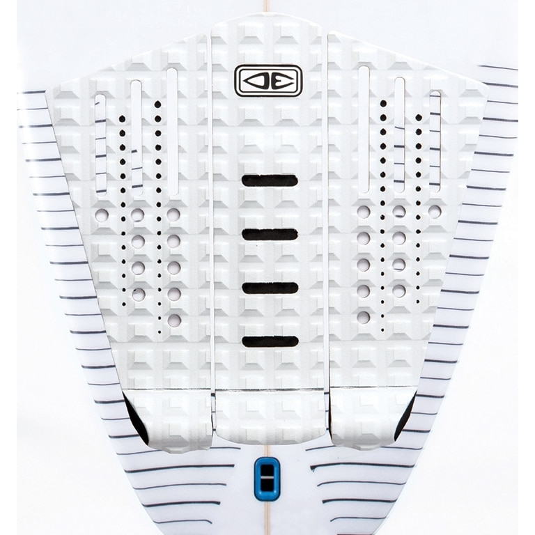 Ocean Earth Line Up Surfboard Tail Pad White