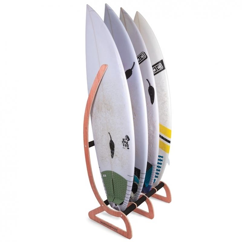 Ocean Earth Timber Free Standing Surfboard Floor Rack