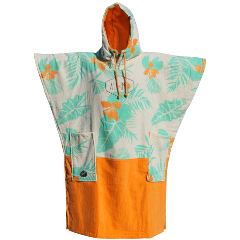All-In Velour Beach Changing Robe V Bump Melon Exotic