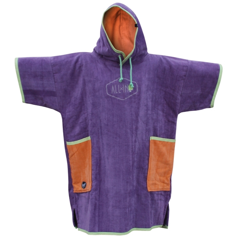 All-In Velour Beach Changing Robe Classic Bumpy Mauve Melon