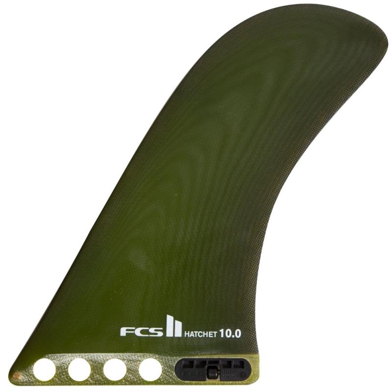 FCS II Hatchet Longboard Surfboard Fin Dry Mustard