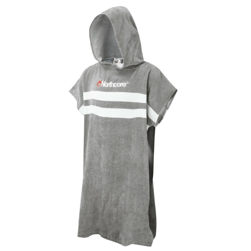 Northcore Stripey Beach Basha Changing Robe Grey