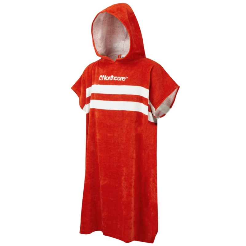 Northcore Stripey Beach Basha Changing Robe Red