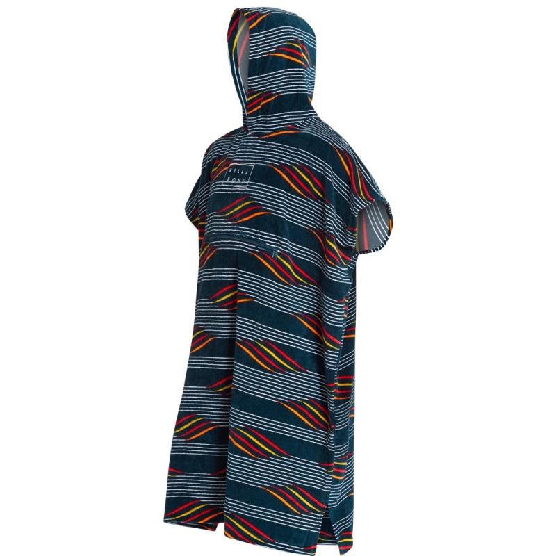 Billabong Hooded Poncho Beach Basha Changing Robe Navy