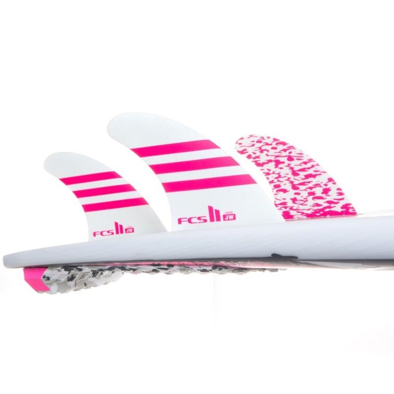 FCS II JW PG Tri Set Surfboard Fins Pink 2018